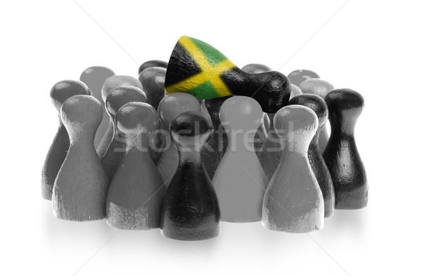 Stock fotó: Egy · egyedi · gyalog · felső · zászló · Jamaica