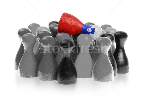 Uno peón superior bandera Eslovenia Foto stock © michaklootwijk