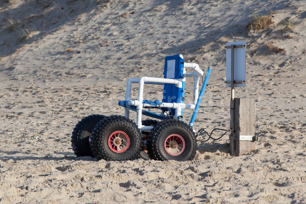 Wheelchair designed specifically for use on the Sea Beach Stock photo © michaklootwijk
