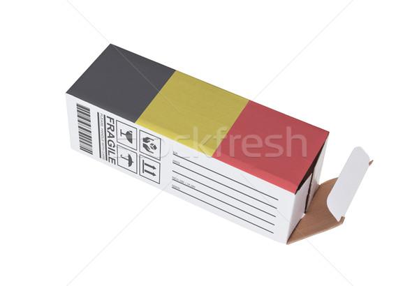 Exportar produto Bélgica papel caixa Foto stock © michaklootwijk