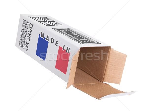 エクスポート 製品 フランス 紙 ボックス ストックフォト © michaklootwijk