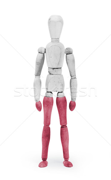 Wood figure mannequin with flag bodypaint - Poland Stock photo © michaklootwijk