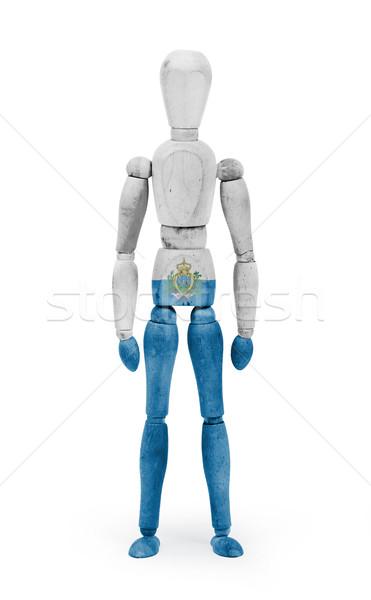 Wood figure mannequin with flag bodypaint - San Marino Stock photo © michaklootwijk