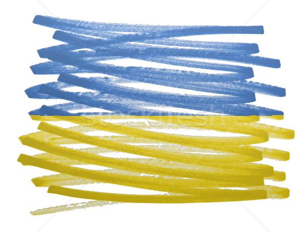 Flag illustration - Ukraine Stock photo © michaklootwijk