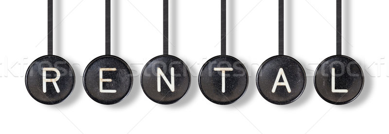 Typewriter buttons, isolated - Rental Stock photo © michaklootwijk
