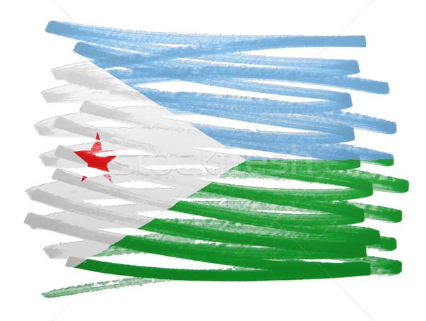Banderą ilustracja Dżibuti pióro działalności farby Zdjęcia stock © michaklootwijk