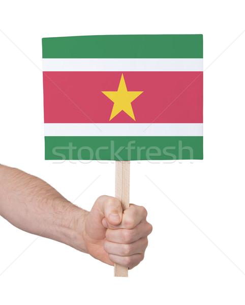 стороны небольшой карт флаг Суринам Сток-фото © michaklootwijk
