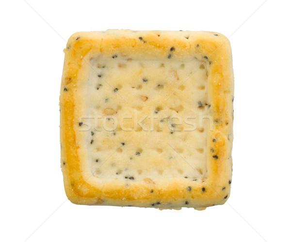 Simple square cracker isolated Stock photo © michaklootwijk