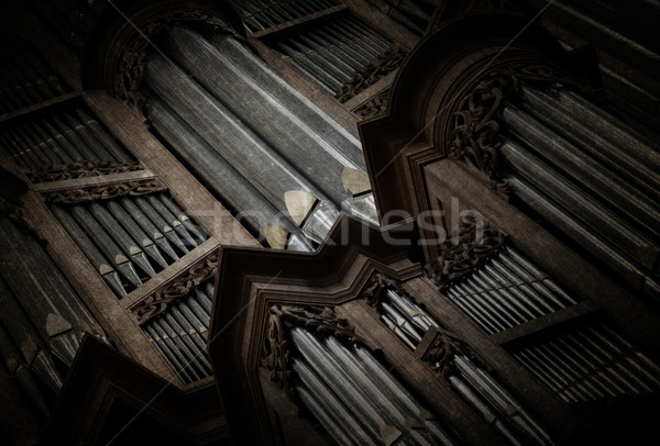Raccapricciante immagine vecchio pipe organo chiesa Foto d'archivio © michaklootwijk