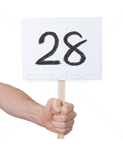 Sign with a number, 28 Stock photo © michaklootwijk