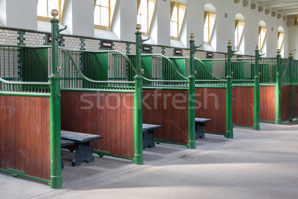 Groot oude lege stabiel binnenkant Stockfoto © michaklootwijk