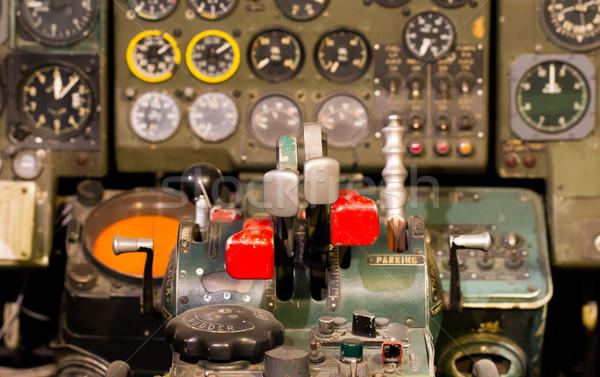センター コンソール 飛行機 古い コンピュータ 技術 ストックフォト © michaklootwijk