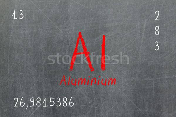 Yalıtılmış tahta alüminyum kimya okul Stok fotoğraf © michaklootwijk
