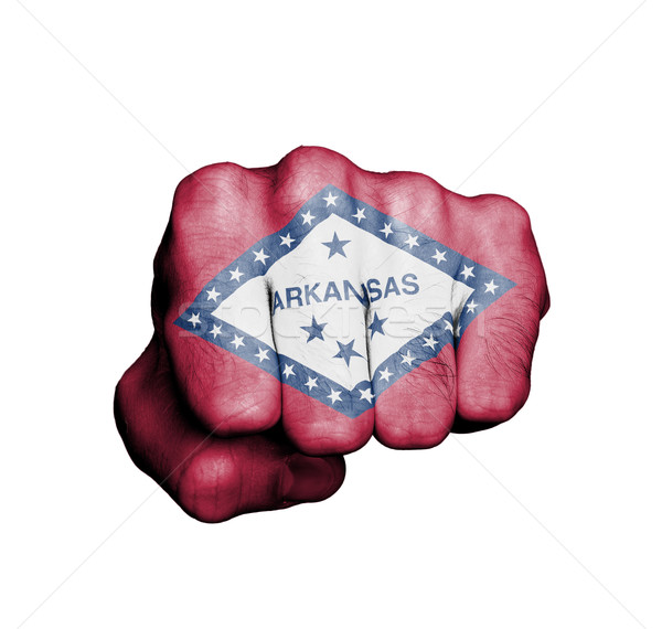Stock photo: United states, fist with the flag of a state
