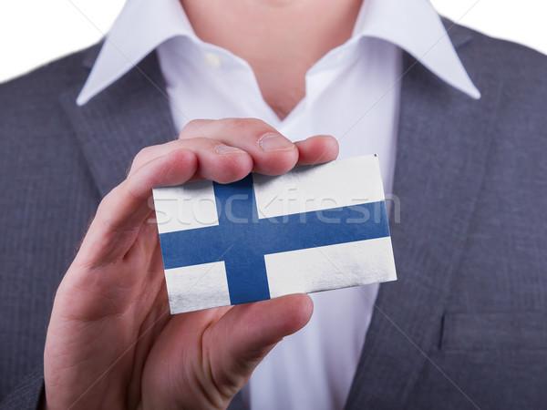 Empresário cartão papel efeito Foto stock © michaklootwijk