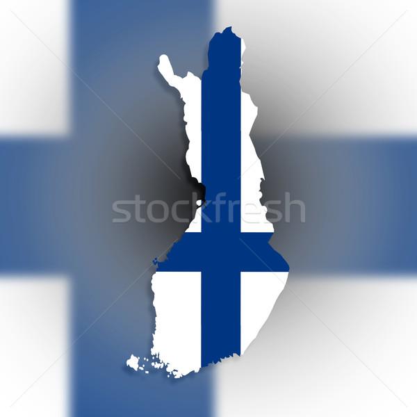 Mappa Finlandia bandiera isolato sfondo segno Foto d'archivio © michaklootwijk