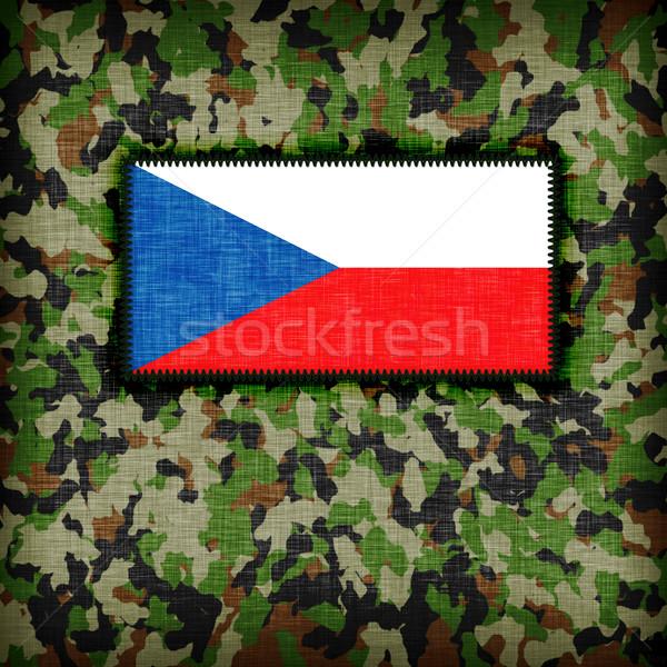 álca egyenruha Csehország zászló textúra absztrakt Stock fotó © michaklootwijk
