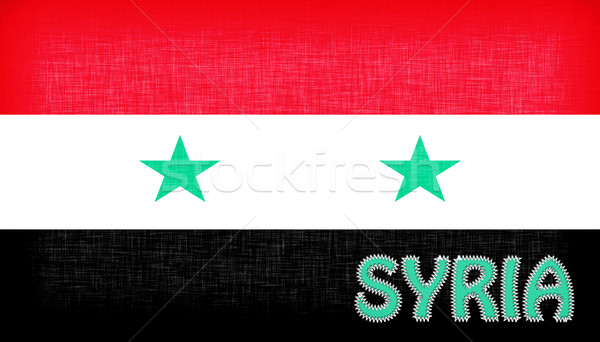 Bandeira Síria cartas estrelas tecido Ásia Foto stock © michaklootwijk