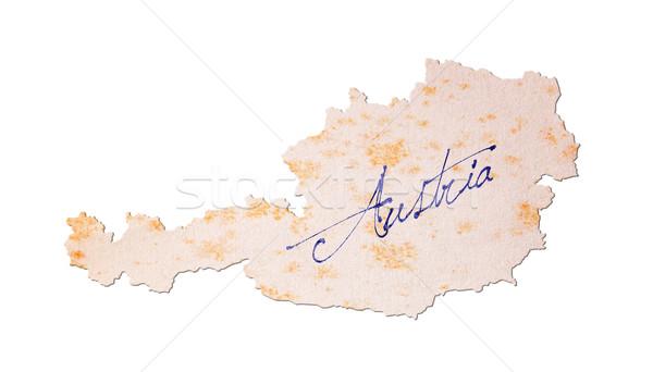 Avusturya Eski kağıt el yazısı mavi mürekkep kâğıt Stok fotoğraf © michaklootwijk