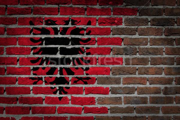 Dark brick wall - Albania Stock photo © michaklootwijk