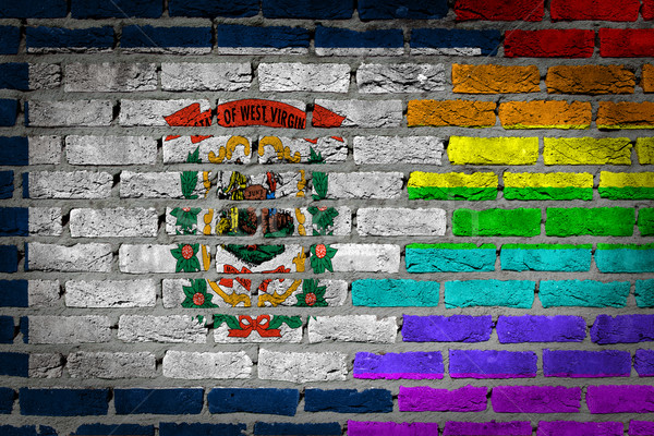 Dark brick wall - LGBT rights - West Virginia Stock photo © michaklootwijk
