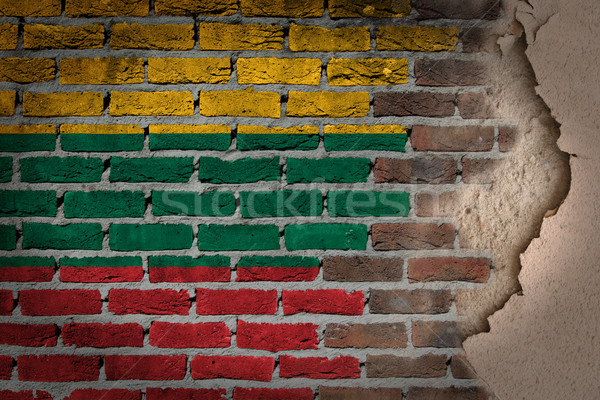 Dark brick wall with plaster - Lithuania Stock photo © michaklootwijk