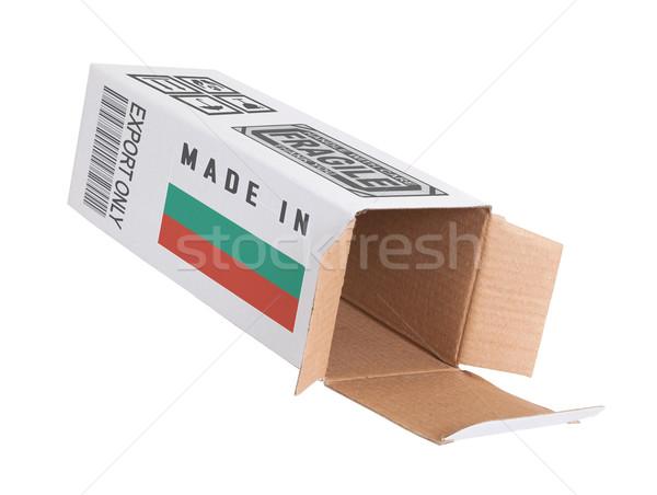 Eksport produktu Bułgaria papieru polu Zdjęcia stock © michaklootwijk