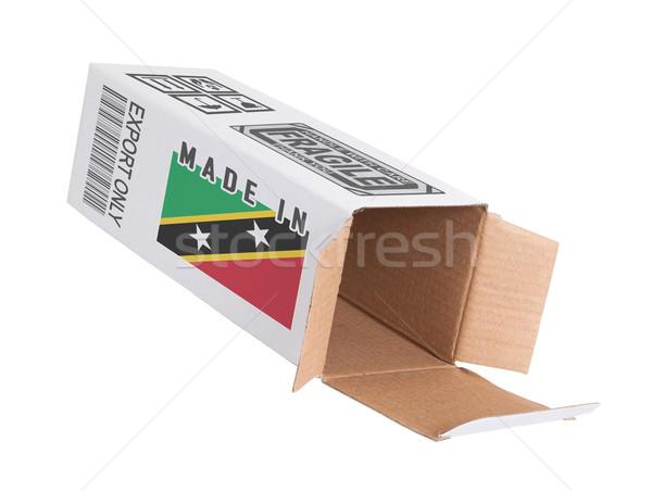 Exportar producto papel cuadro Foto stock © michaklootwijk