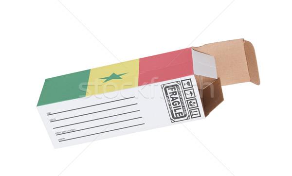 Esportazione prodotto Senegal carta finestra Foto d'archivio © michaklootwijk