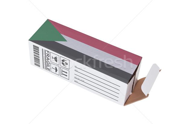 Concept of export - Product of Sudan Stock photo © michaklootwijk