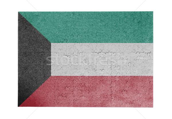 Nagy kirakós játék 1000 darabok Kuvait zászló Stock fotó © michaklootwijk