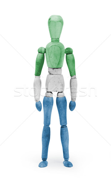 Wood figure mannequin with flag bodypaint - Sierra Leone Stock photo © michaklootwijk