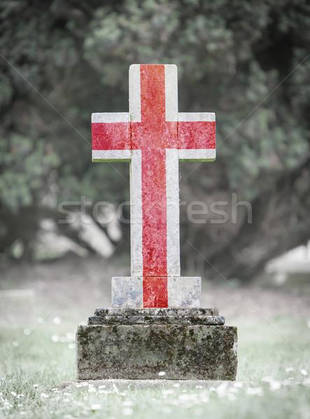 Gravestone in the cemetery - England Stock photo © michaklootwijk