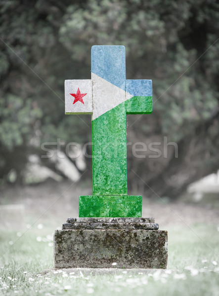 Gravestone in the cemetery - Djibouti Stock photo © michaklootwijk