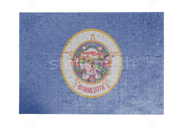 большой 1000 частей Миннесота флаг Сток-фото © michaklootwijk