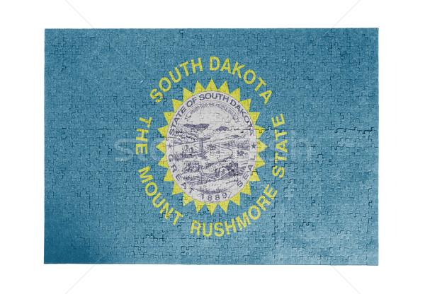 Groot 1000 stukken South Dakota vlag Stockfoto © michaklootwijk