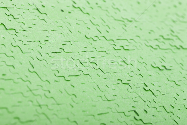 Old puzzle - Pieces connected - Green Stock photo © michaklootwijk