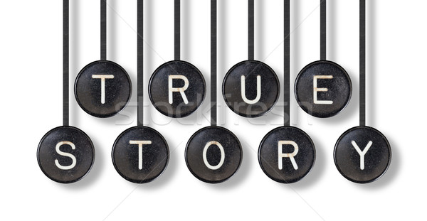 Typewriter buttons, isolated - True story Stock photo © michaklootwijk