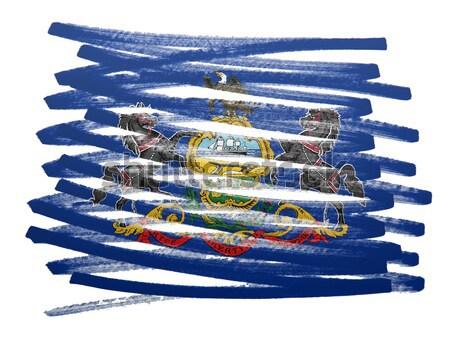 Bayrak örnek Güney Dakota kalem iş boya Stok fotoğraf © michaklootwijk