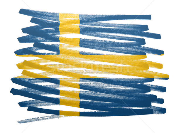 Vlag illustratie Zweden pen business verf Stockfoto © michaklootwijk