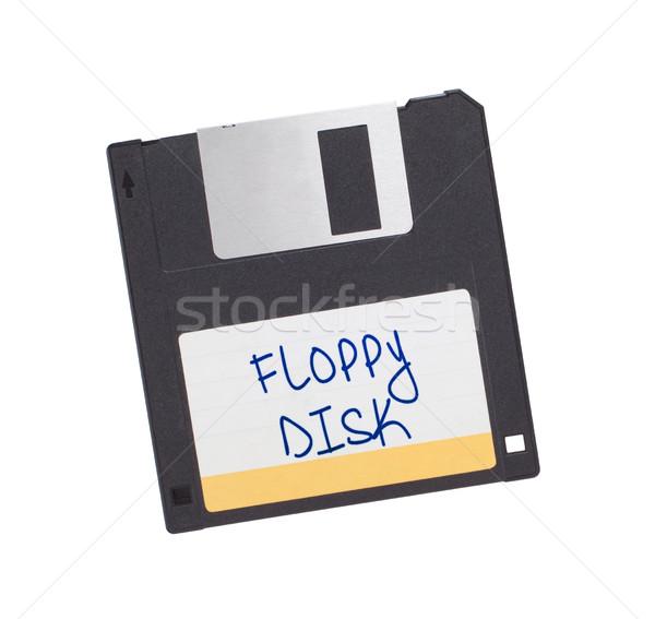 Сток-фото: диск · прошлое · изолированный · белый · информации · Vintage