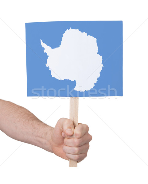 Hand holding small card - Flag of Antarctica Stock photo © michaklootwijk