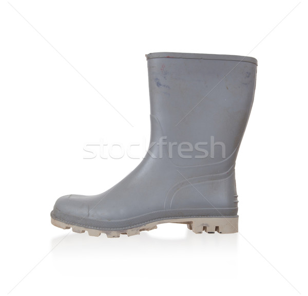 Old rubber boot isolated Stock photo © michaklootwijk