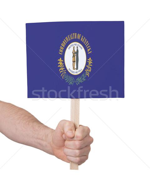 手 小 カード フラグ ケンタッキー州 ストックフォト © michaklootwijk