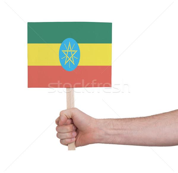 стороны небольшой карт флаг Эфиопия Сток-фото © michaklootwijk