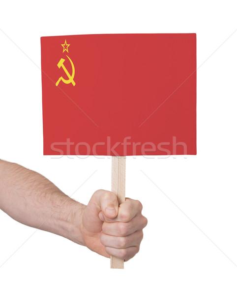 El küçük kart bayrak sscb Stok fotoğraf © michaklootwijk