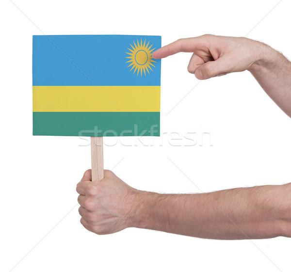 стороны небольшой карт флаг Руанда Сток-фото © michaklootwijk