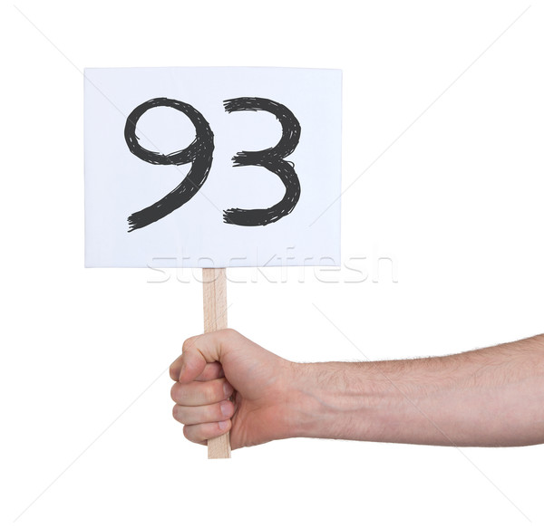 Sign with a number, 93 Stock photo © michaklootwijk