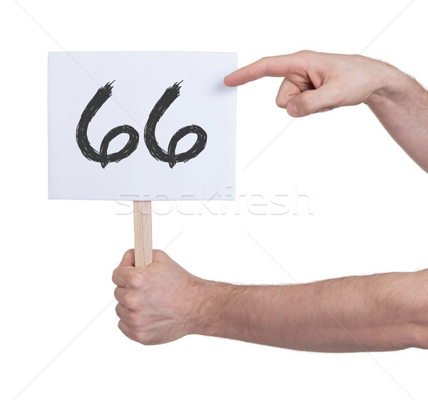 Sign with a number, 66 Stock photo © michaklootwijk