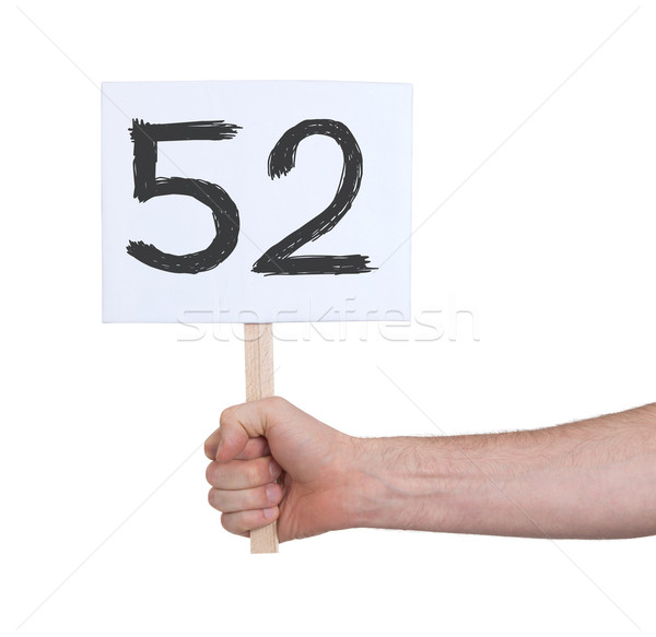 Sign with a number, 52 Stock photo © michaklootwijk
